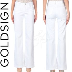 Goldsign Jeans Silvie Flare White 27 Wide leg  A20